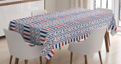 Marine Pattern Stripes Tablecloth