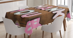 Rustic Cookie Letters Tablecloth