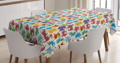 Children Pattern Colored Tablecloth