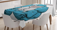 Toothy White Shark Smiling Tablecloth