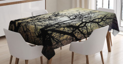 Grunge Branches Twilight Tablecloth