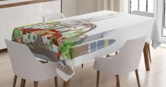Mega City Urban Scenery Tablecloth