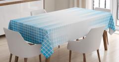 Geometric Squared Design Tablecloth