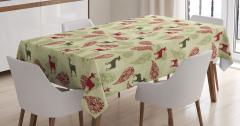 Ornate Tribal Animal Tablecloth