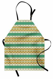 Eski Kızılderili Deseni Mutfak Önlüğü Geometrik