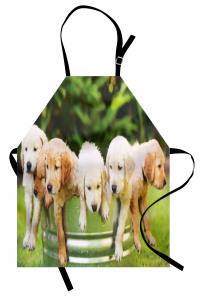 Islak Köpekler Mutfak Önlüğü Doğa Yeşil Dekoratif