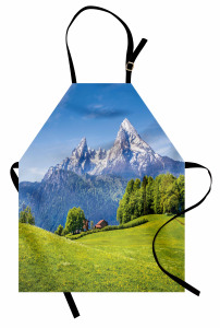 Karlı Dağ Manzaralı Mutfak Önlüğü Doğada Huzur Temalı