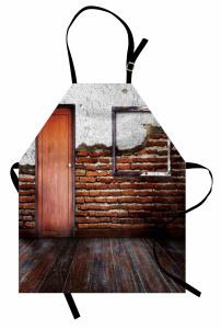 Terk Edilmiş Oda Temalı Mutfak Önlüğü Ahşap Görünümlü