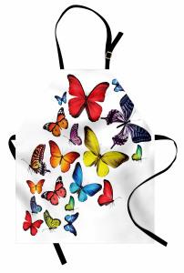 Kelebek Coşkusu Desenli Mutfak Önlüğü Çeyizlik Trend