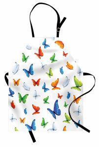 Bahar Kelebekleri Desenli Mutfak Önlüğü Rengarenk