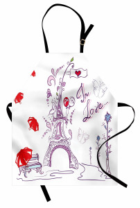 Paris'te Sonbahar Mutfak Önlüğü Romantik Trend