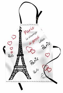 Aşk Temalı Mutfak Önlüğü Paris Çeyizlik Şık Tasarım