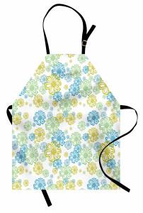 Rengarenk Çiçek Desenli Mutfak Önlüğü Çeyizlik Trend