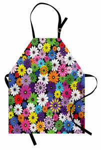 Çiçek Temalı Mutfak Önlüğü Rengarenk Çeyizlik Şık