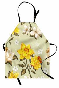 Bahar Çiçekleri Desenli Mutfak Önlüğü Çeyizlik Trend