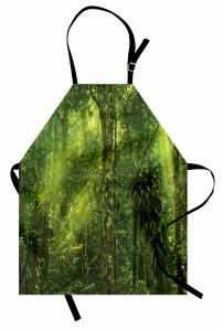 Yeşil Orman Manzaralı Mutfak Önlüğü Ağaç Doğa Trend