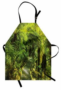 Doğa Yürüyüşü Temalı Mutfak Önlüğü Yeşil Ağaç Orman