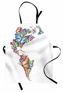 Kelebekler Atlası Mutfak Önlüğü Rengarenk