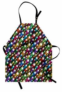 Yıldız Desenli Mutfak Önlüğü Rengarenk Şık Tasarım
