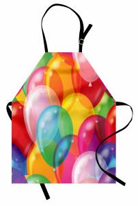 Çocuklar İçin Mutfak Önlüğü Rengarenk Balon Desenli