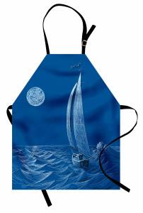 Ay Dalga ve Yelkenli Mutfak Önlüğü Denizcilik