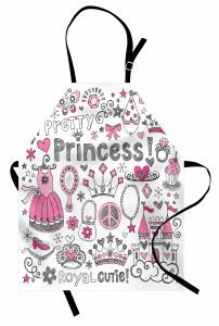 Masal Temalı Mutfak Önlüğü Çocuk İçin Pembe Prenses