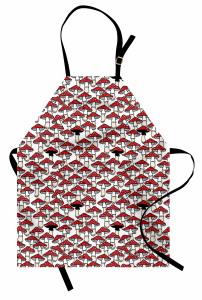 Kırmızı Mantar Desenli Mutfak Önlüğü Şık Tasarım