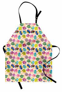 Rengarenk Mantarlar Mutfak Önlüğü Çocuk İçin