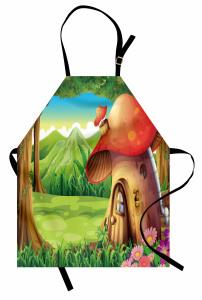 Mantar Ev ve Orman Mutfak Önlüğü Çocuk İçin