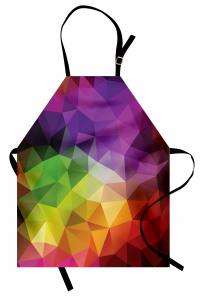 Rengarenk Üçgen Desenli Mutfak Önlüğü Geometrik Şık