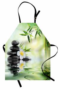Masaj Severler İçin Mutfak Önlüğü Çiçek Su Taş SPA