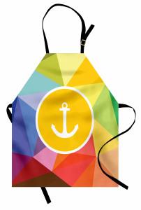 Rengarenk Çapa Desenli Mutfak Önlüğü Deniz Temalı