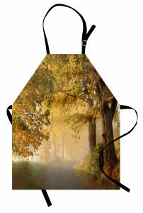 Sisli Orman Yolu Temalı Mutfak Önlüğü Sisli