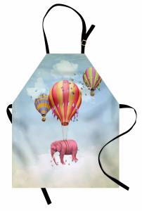 Rengarenk Balon ve Fil Mutfak Önlüğü Fantastik