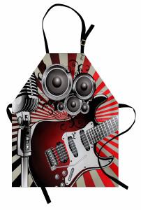 Müzik Sever İçin Gitar Mutfak Önlüğü Trend