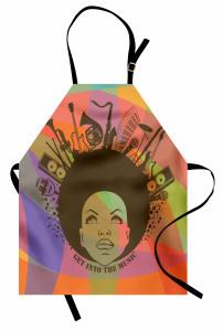 Müzik Afro Kadın Mutfak Önlüğü Trend