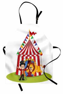 Sirk ve Tatlı Aslan Mutfak Önlüğü Çocuklar İçin