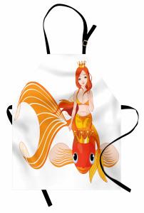 Çocuklar İçin Mutfak Önlüğü Deniz Kızı Temalı Balık