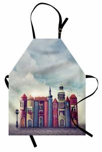 Sihirli Şehir Temalı Mutfak Önlüğü Rengarenk