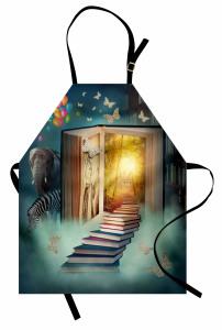 Kitap ve Kelebek Mutfak Önlüğü Fil Balon