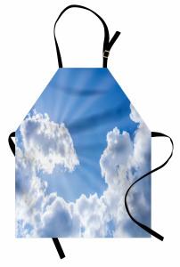 Bulutlar ve Güneş Mutfak Önlüğü Gökyüzü