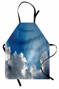 Gökyüzü Temalı Mutfak Önlüğü Mavi Bulut Güneş