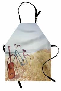 Gitar ve Bisiklet Mutfak Önlüğü Deniz Yaz