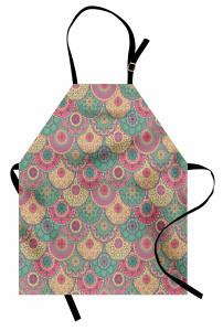 Pastel Çiçek Desenli Mutfak Önlüğü Rengarenk