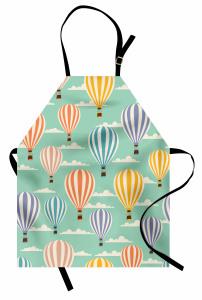 Balon Desenli Mutfak Önlüğü Rengarenk Trend