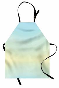 Mavi ve Sarı Desenli Mutfak Önlüğü Sade Şık