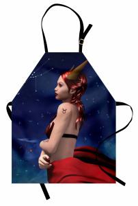 Boğa Burcu Temalı Mutfak Önlüğü Kadın Sembol