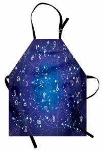 Burçlar Temalı Mutfak Önlüğü Astroloji Haritası