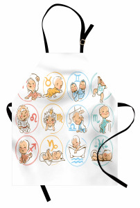 Burç Haritası Mutfak Önlüğü Bebek Astroloji