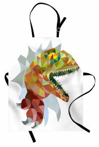 Dinozor Desenli Mutfak Önlüğü Rengarenk Trend